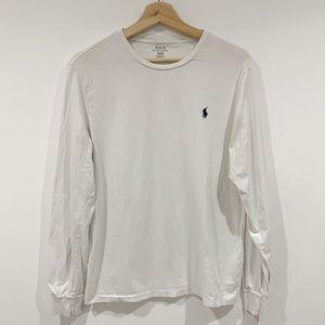 Polo Ralph Lauren White long sleeve top Sz Medium
